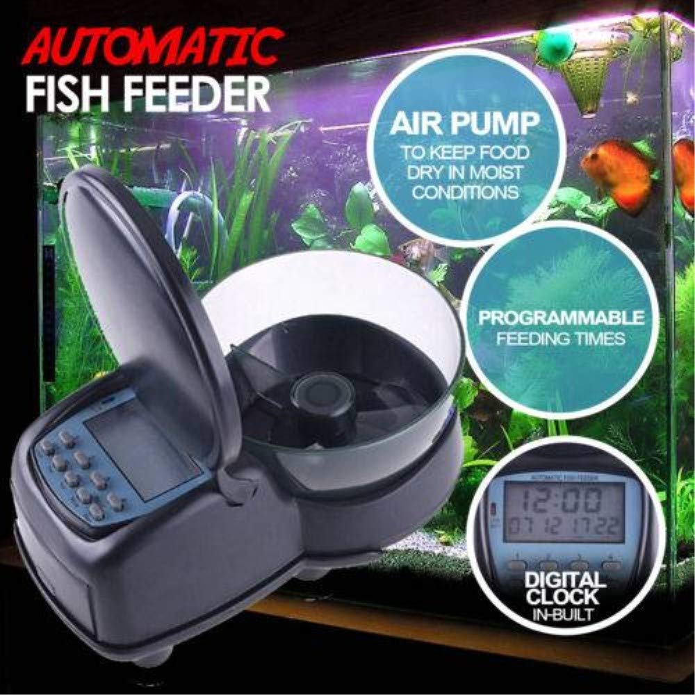 Guowy Fish Fish Fish Feeder Automatic Food Dispenser Digital Fish Feeding Aquarium Serbatoio 09f75a