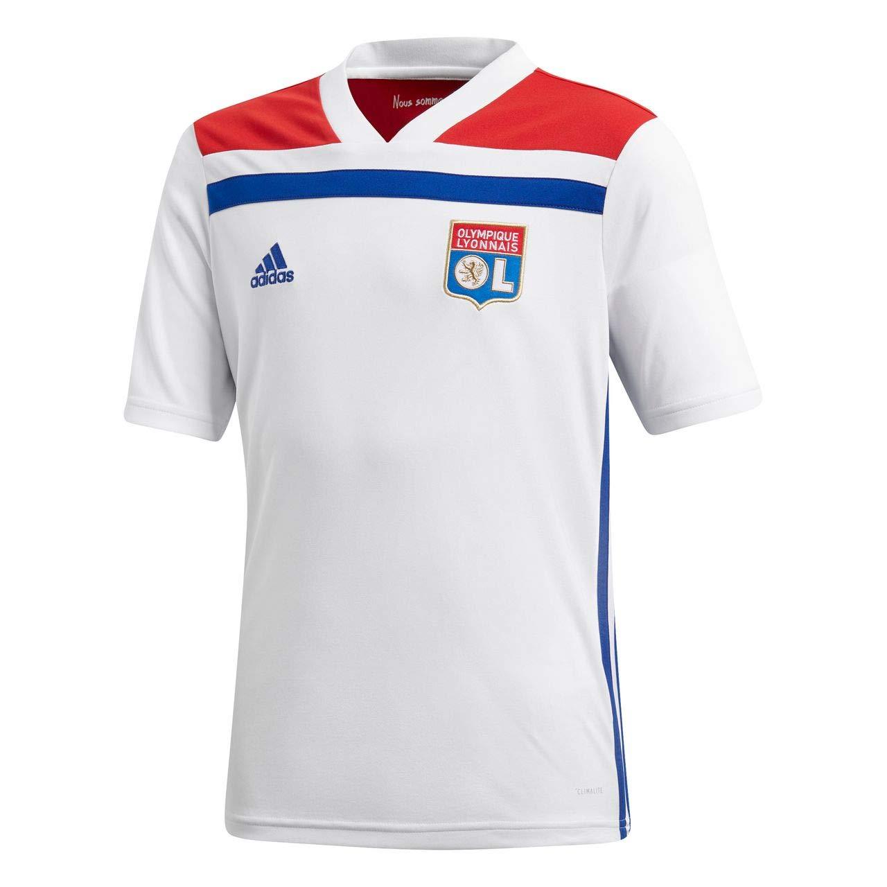 Adidas Kinder Ol H Y Teamtrikot, Weiß ColROT, L