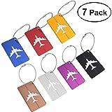 NUOLUX Viaggio bagagli Tag valigia bagagli Bag Tag ID viaggio borsa Tag Airlines bagagli etichette Pack di 7