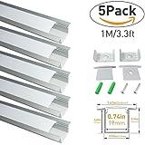 LightingWill Spot Free U Shape LED Aluminum Channel