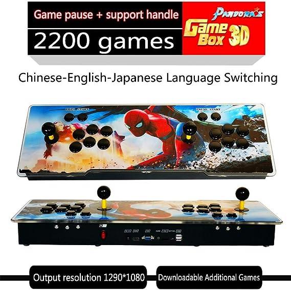 Jannyshop - Juego de videoconsola Pandora Box 100 3D + 2100 2D Estilo Spiderman Retro: Amazon.es: Hogar
