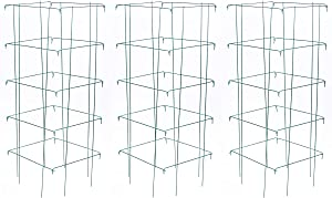"""Burpee Medium Heavy Gauge Green Tomato 3 Cages 