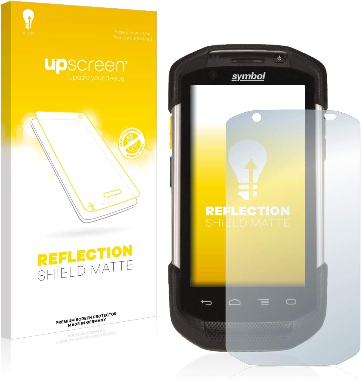 upscreen Matte and Anti-Glare Reflection Shield Matte Screen Protector for Zebra TC77 Strong Scratch Protection Multitouch Optimized