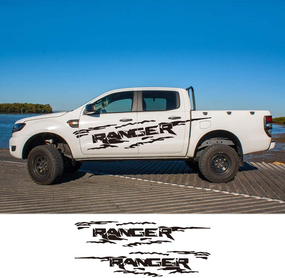 ZYHZJC 2PCS Pickup Off Road Decals Auto Styling T/ür Seitenaufkleber Vinyl Graphics Body Decor f/ür Ford Ranger Raptor