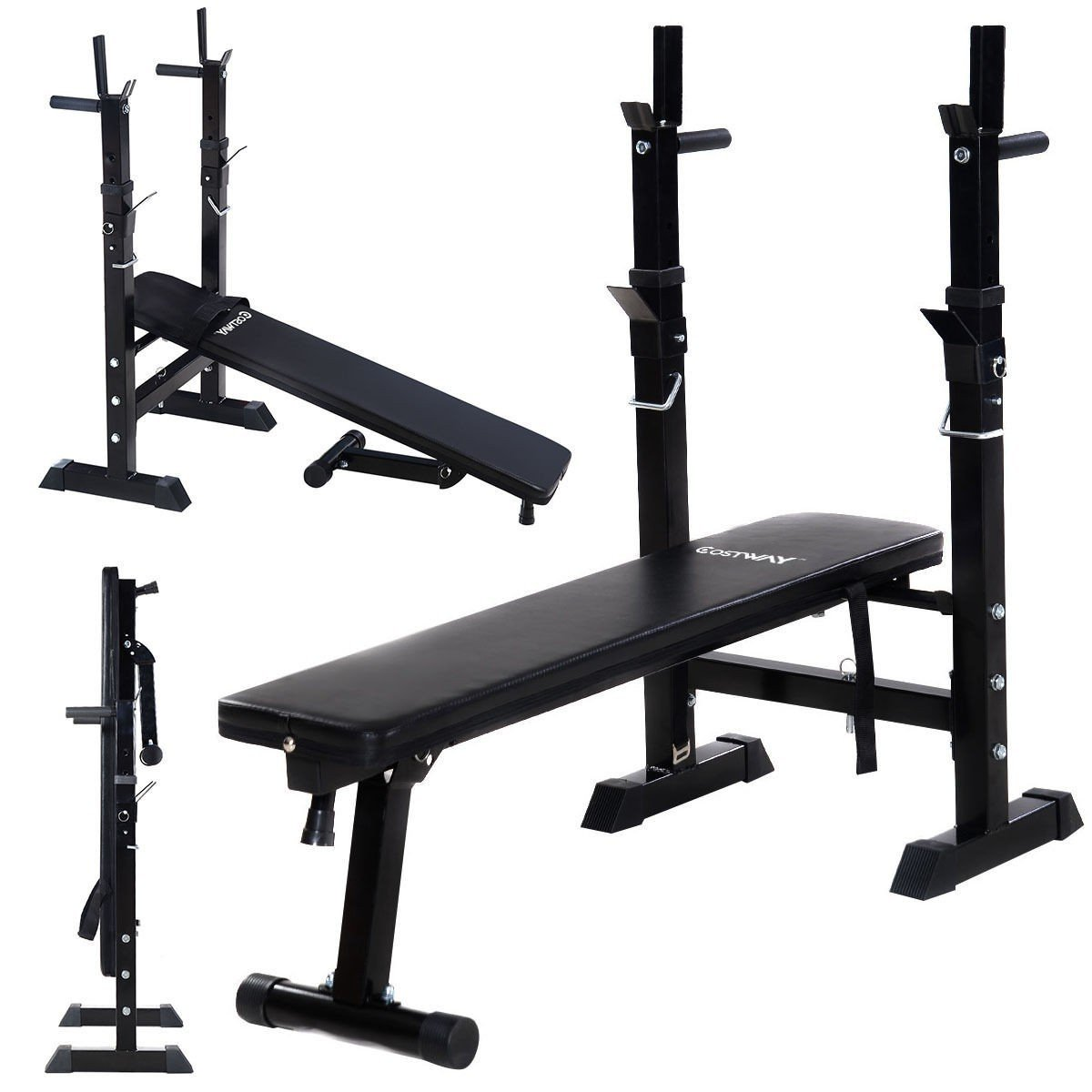 Incline Bench Fitness Workout Adjustable Folding Weight Lifting Flat