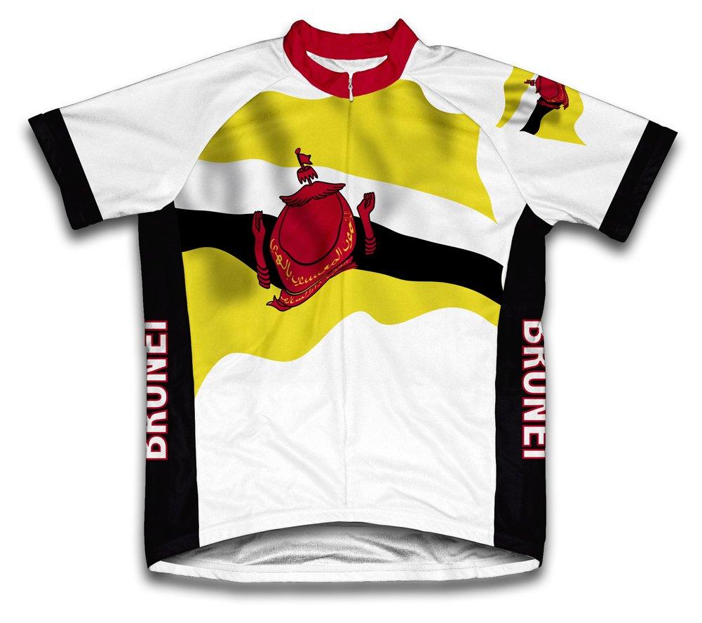 Brunei Flag Radsport Trikot mit kurzer Ärmel für Menner