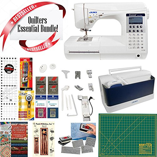 Juki HZL-F300 Exceed Series - Full Sized 9 inch Throat Computer Sewing Quilting Machine w/ Quilting essential Bundle!