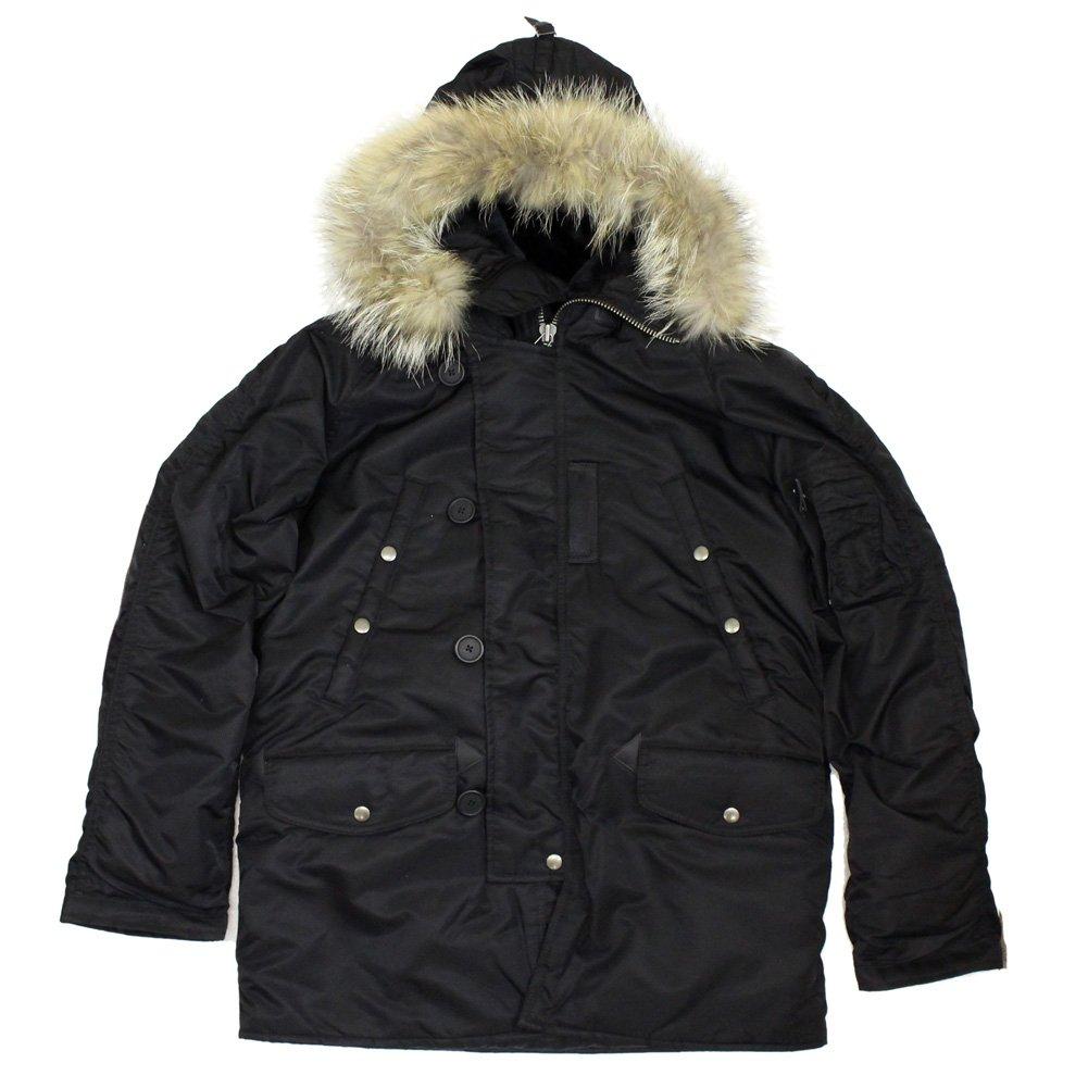 (アヴィレックス) AVIREX N-3B コマーシャル リアルファージャケット B077N1BW19 XL|009-BLACK 009-BLACK XL