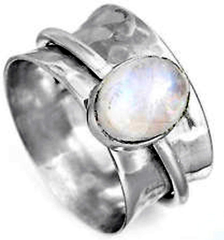 Unisex Silver Thumb Ring JewelsExporter Spinner Ring,Sterling Silver mm Ring,All Sterling Silver Stress Ring Chunky Silver Thumb Ring