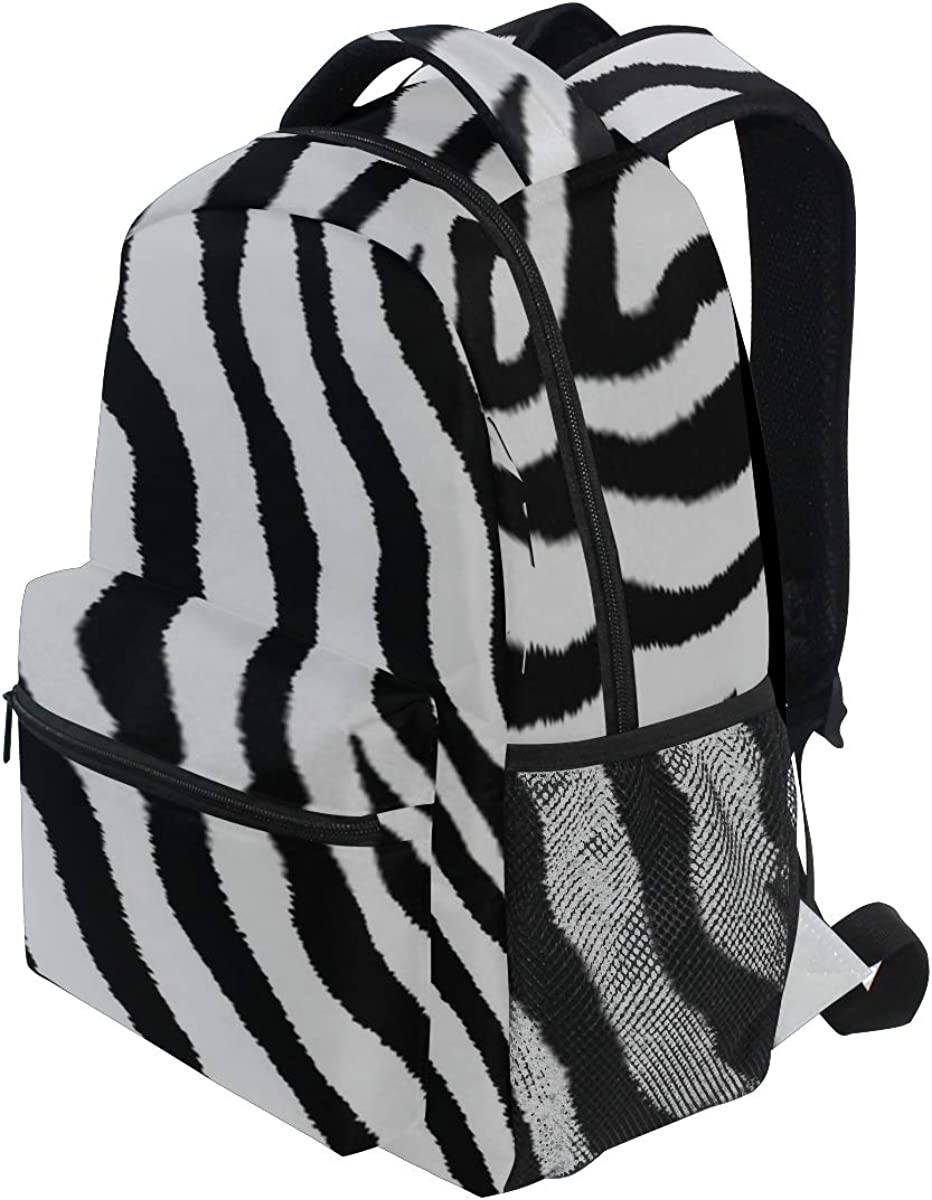 Backpack Bag Seamless Pattern Zebra Fur Print Vector Backpack For Women Waterproof Casual Daypacks For Young Girls