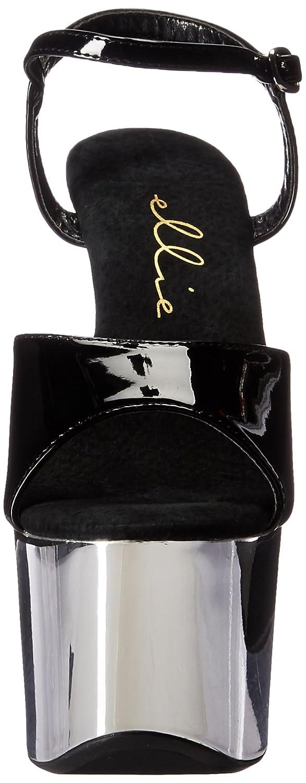 Ellie Shoes E-711-Chrome 7 Heel Chrome Sandal.