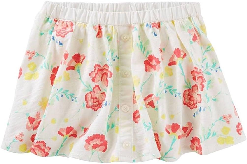 OshKosh BGosh Baby Girls Cotton Pull-on Floral Skort