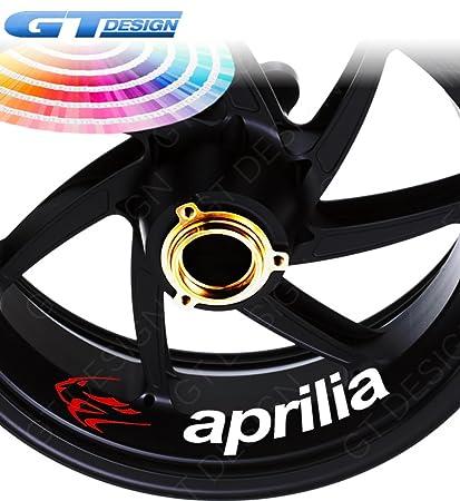GT-Design - Lote de 4 pegatinas para llantas de moto Aprilia ...