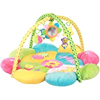 Mee Mee Baby Play Cushioned Deluxe Gym Mat, Sunflower, Multi Color