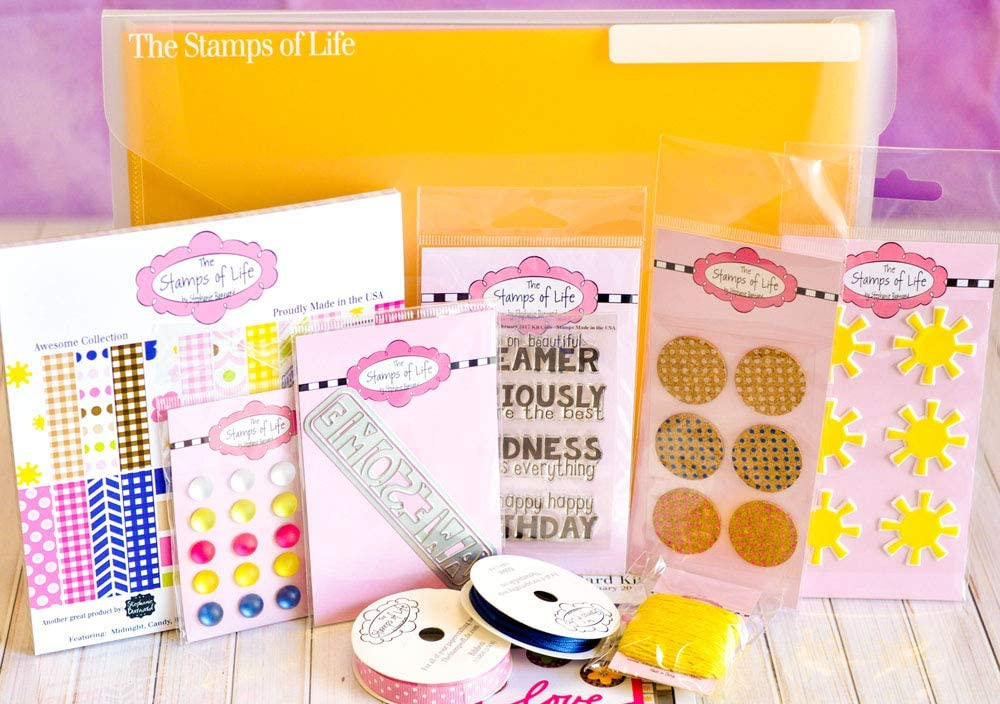 Sunshine Scrapbooking Card Kit by The Stamps of Life