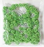 Confezione di 144 rose roselline orlate color verde utilizzabili per chiudere porta confetti, bomboniere o composizioni