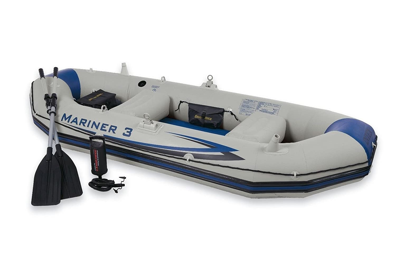 Intex Conjunto de barco mariner 3, Gris: Amazon.es: Deportes y aire libre