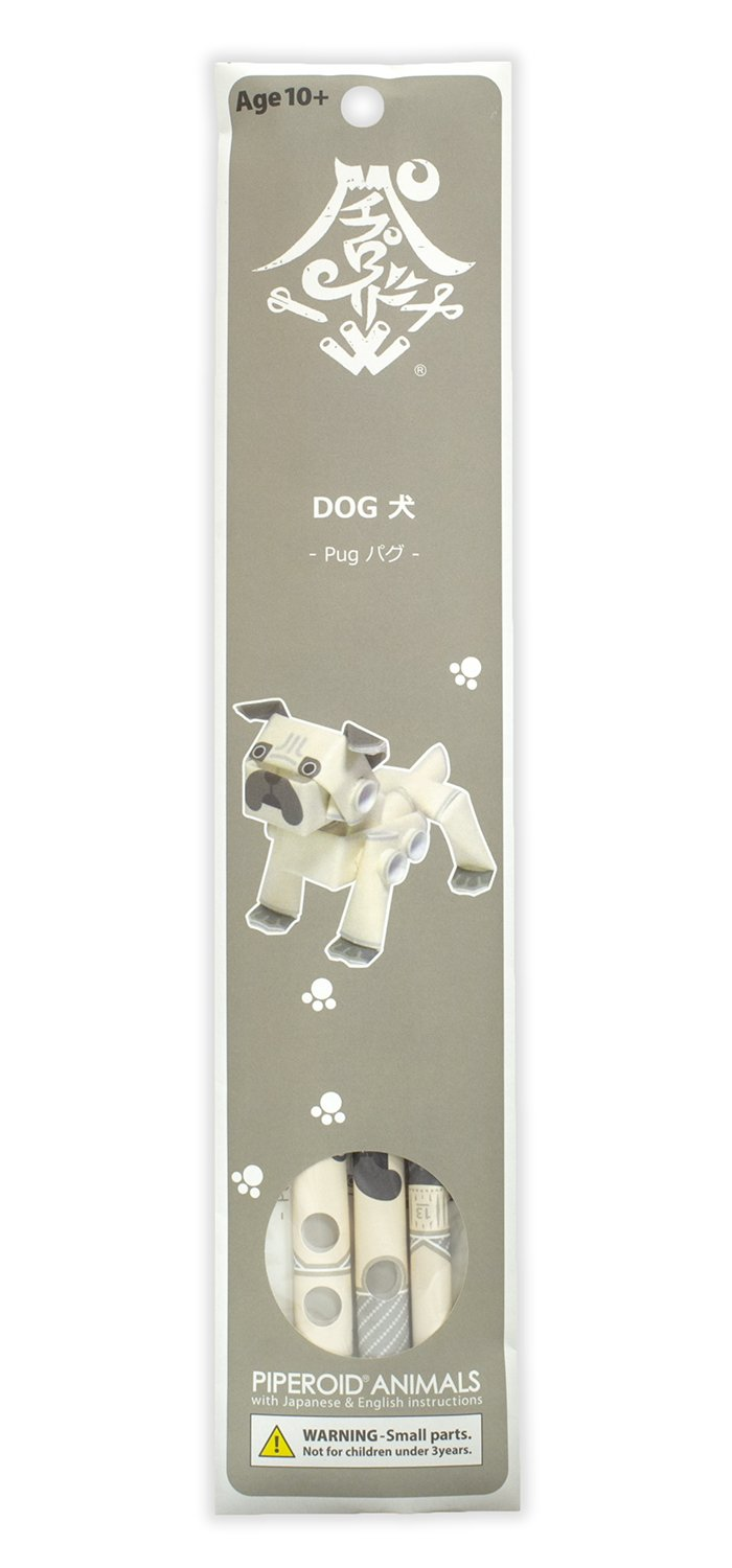 PIPEROID Animals Dogs Pug LTD Paper Craft kit from Japan KOTO CO