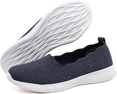 poemlady Women's Slip on Loafer Shoes - Mesh Casual Flat Nurse Walking Sneakers
