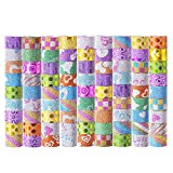 Washi Tapes Set 85 Rolls, Decorative Masking Washi Tapes for DIY Crafts and Gift Wrapping (multicolored)