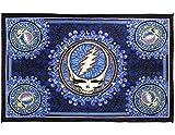 Sunshine Joy Grateful Dead Steal Your Face Tapestry Dan Morris Tablecloth Wall Art Beach Sheet Huge 60x90 Inches