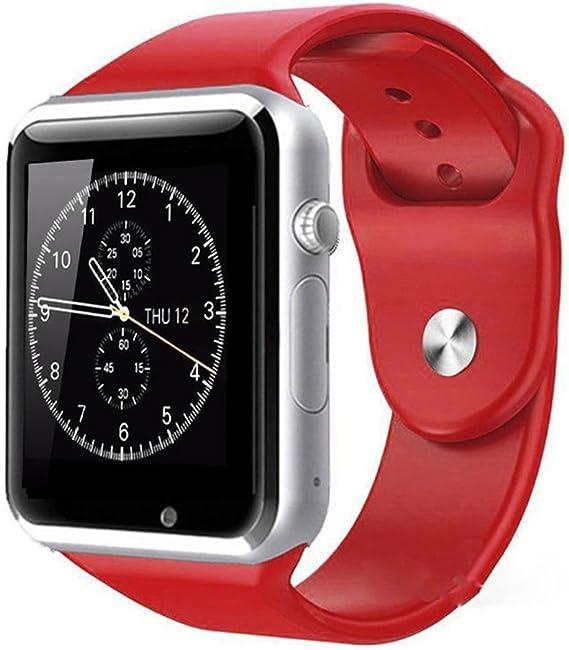 SSITG Bluetooth A1 gsm Smart Watch Reloj de Pulsera Smartphone Android teléfono con cámara: Amazon.es: Relojes