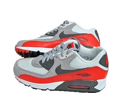 Nike Air Max 90 2007 Sneaker 705499 003 Grau Rot Weiß GS