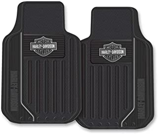product image for Harley-Davidson Floor Mats, Elite Series Bar & Shield Logo, Non-Carpeted, 1653