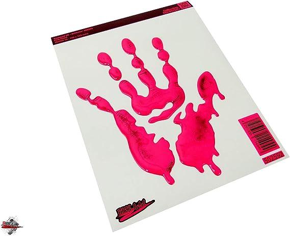 Bike Label 502592va Tankpad Hände Aufkleber Für Motorrad Auto Neon Pink Auto