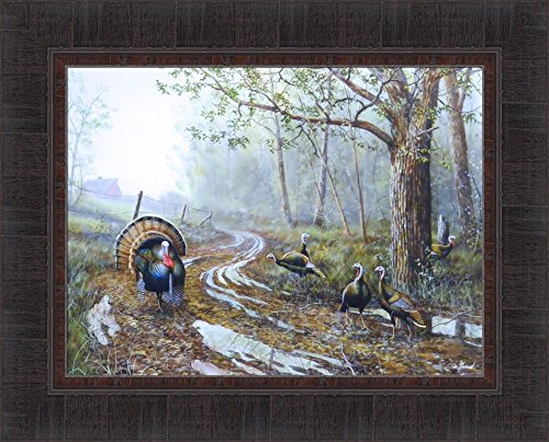 - Spring Fever by Jim Hansel 17x21 Turkey Barn Framed Art Print Wall Décor Picture