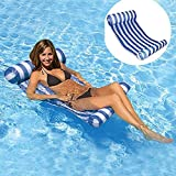 AILUOR Swimming Pool Beach Floating Water Hammock Lounge Chair, Inflatable Water Rafts Floating Bed,Floating Chair,Water Sofa,Inflatable Swimming Pool Lounger Chair for Adult and Kids (Blue)