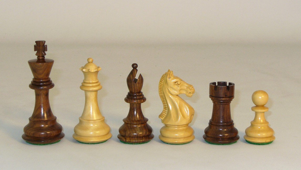 Sheesham Pro Chessmen by Checkmate