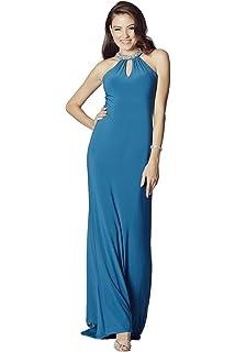 Tiffanys Illusion Prom Teal Abbie Jersey Long Prom Dress