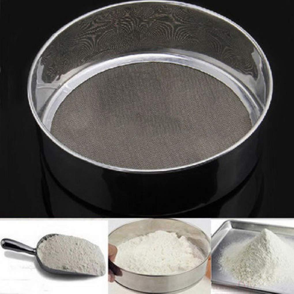 Morza Herramienta para Hornear tamiz de Acero Inoxidable de harina s/úper Cocina Muy Bien Alrededor de Harina Az/úcar tamizadora Colador