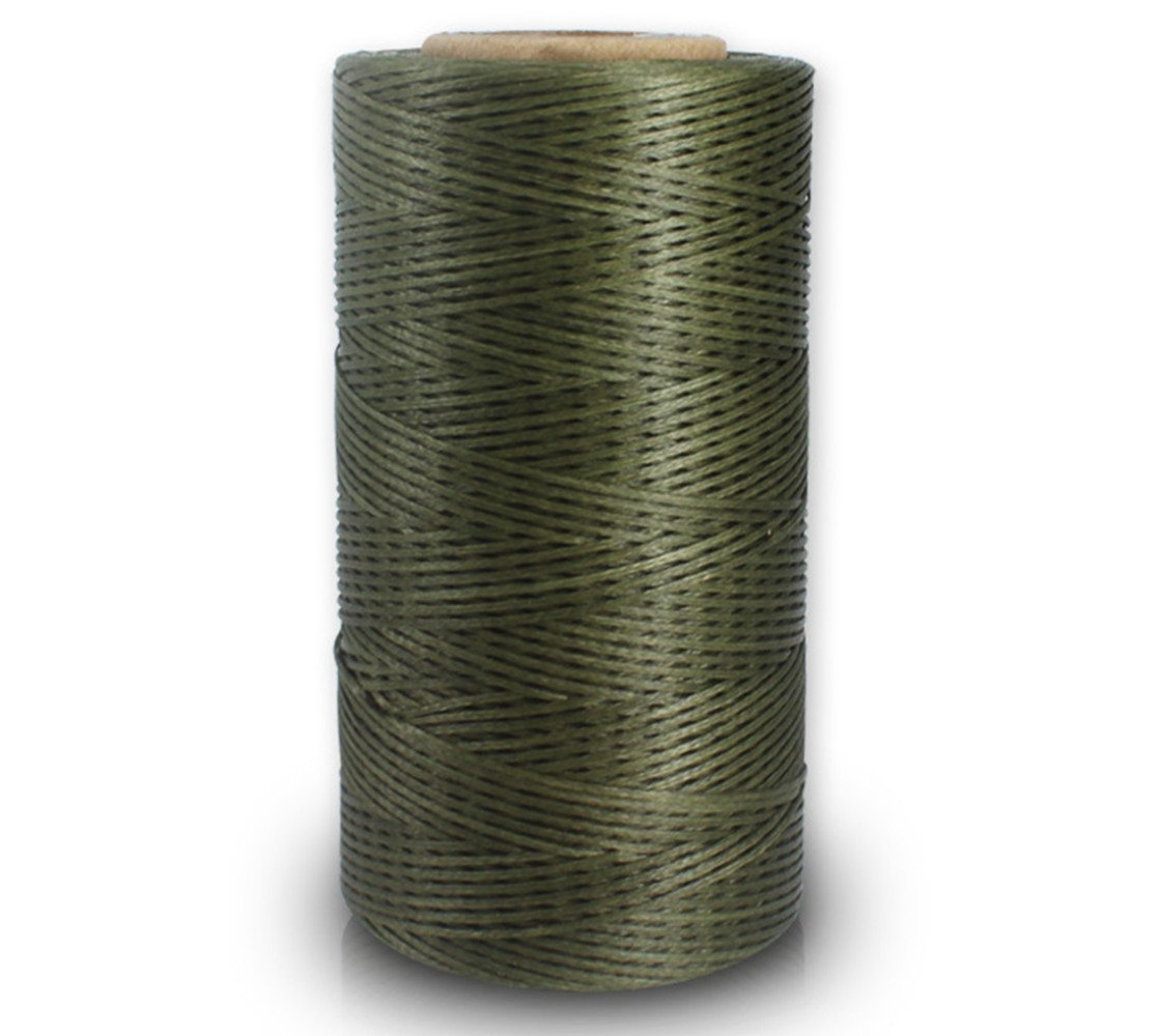 Filo cerato, 150 D, 0,8 mm, in pelle cerata, piatto, filo cerato (150 D 0,8 mm 260 M), 012# verde VegacareDirect