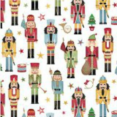 Traditional Nutcracker Gift Wrap Roll 24'' X 16' by Premium Gift Wrap