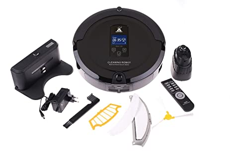 Amazon.com - Amtidy A325 Intelligent Robotic Cleaner Black, Robot Vacuum Cleaner -