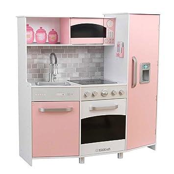 Kidkraft kinderküche spielküche aus holz küche rosa
