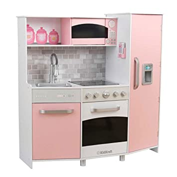 Kidkraft Kinderküche Spielküche aus Holz - Küche rosa: Amazon.de ...