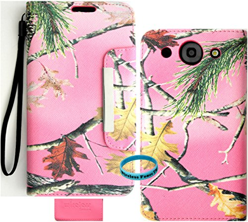 Wireless Fones Branded Pink Camo Mossy Trendy Faux Leather Wallet Case for LG Optimus G Pro E980
