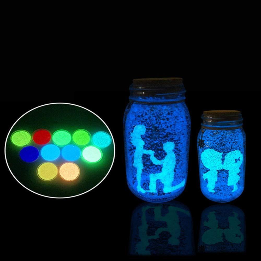 JiaMeng Decoración del hogar Resplandor en la Oscuridad Luminous Sand Aquarium Fluorescent Particle Fish Tank: Amazon.es: Hogar