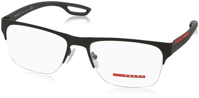 Prada PS55FV Eyeglass Frames TIG1O1-56 - Grey Rubber at Amazon Men\'s ...