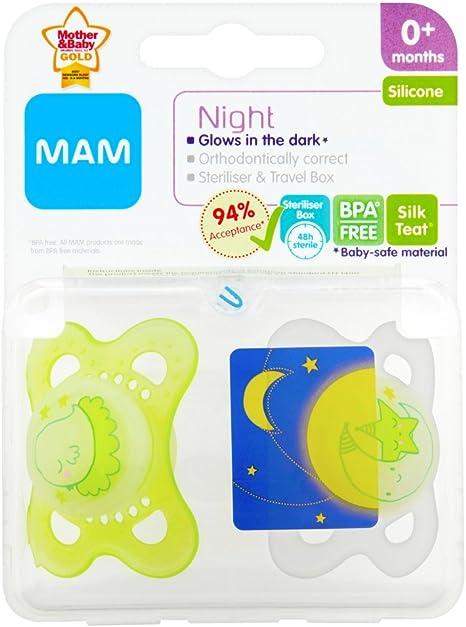 Mam Noches Chupete (recién nacido por encima del promedio), modelo y color surtido: Amazon.es: Bebé