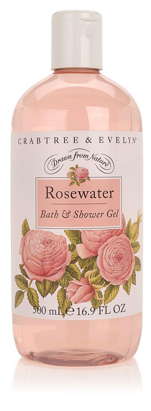 Crabtree & Evelyn Bath and Shower Gel, Rosewater, 16.9 Fl Oz
