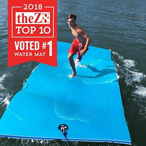 FloatDaddy 3-Ply Foam Lake Swim Mat Super Island | 6 x 16 | - Pad Lily Rubber