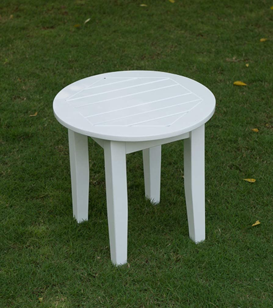 Cambridge-Casual AMZ-180590W Bentley, Round Side Table, White