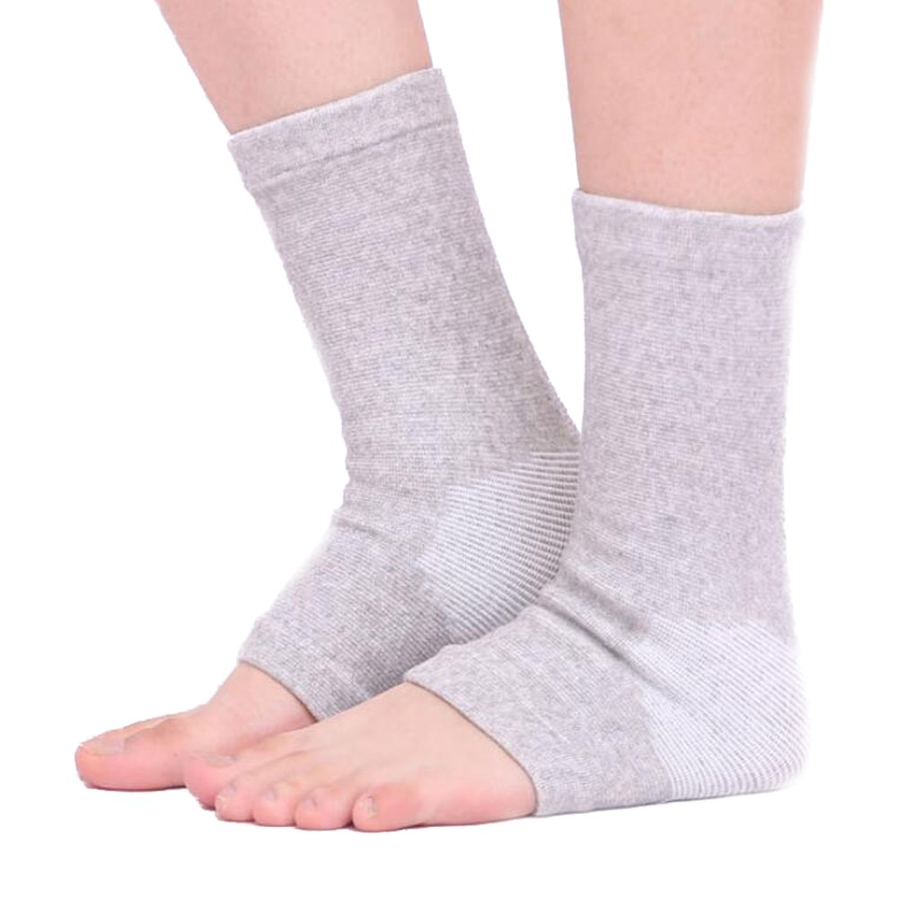 Ankle Brace EULANT Ankle Support Running Elastic Bamboo Charcoal Fiber Keep Warm Ankle Sleeve Support for Sport Gym Football & Prevent Sports Injury Arthritis - 1 Pair