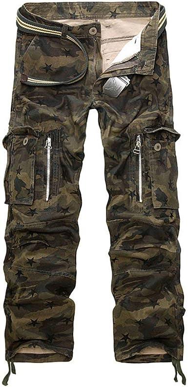 XGBDTJ Pantalones De Camuflaje para Hombre Pantalones Militares ...