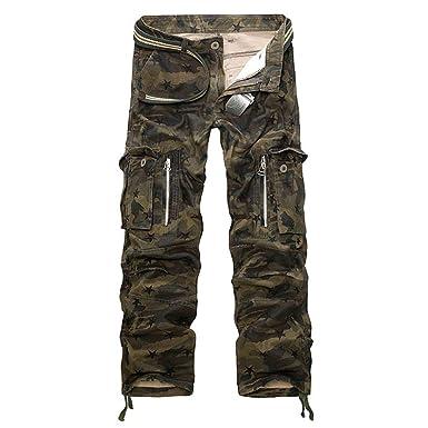 Amayay Pantalones De Camuflaje Pantalones Hombre para Cargo ...