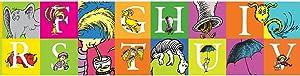 Eureka Dr. Seuss 'Horton Hears A Who' ABCs Bulletin Board Trim and Classroom Decoration for Teachers, 12pc, 3.25'' W x 37'' L
